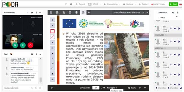Innowacyjne rozwiązania wspierające rozwój gospodarki pasiecznej oraz ochronę pszczoły miodnej - konferencja online 1